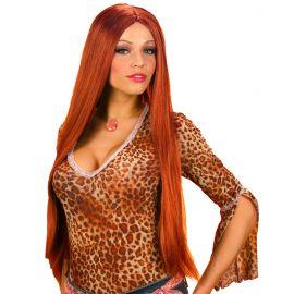 Peluca extra larga rojiza 75 cm