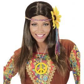 Peluca hippie girasol morena