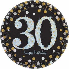 Platos celebracion cumple 30