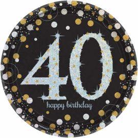Platos celebracion cumple 40