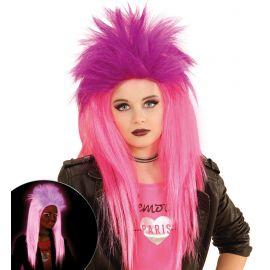 Peluca punkadelic rosa y violeta