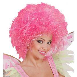 Peluca hada rosa fluor