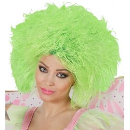 Peluca hada verde fluor