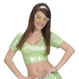Top verde holografico