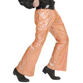 Pantalon naranja holografico
