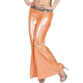 Pantalon tejido holografico naranja