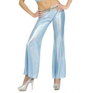 Pantalon tejido holografico azul