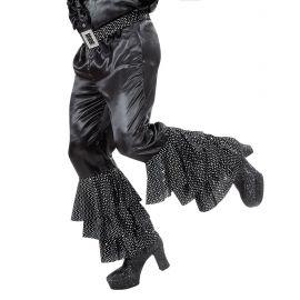 Pantalon negro volantes con cinturon