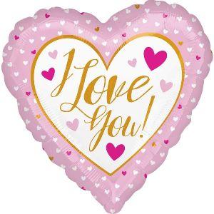 Globo helio corazon rosa i love