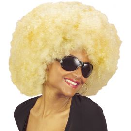 Peluca afro extra rubia