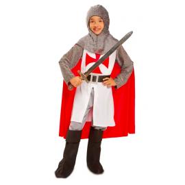 Disfraz caballero medieval con capa