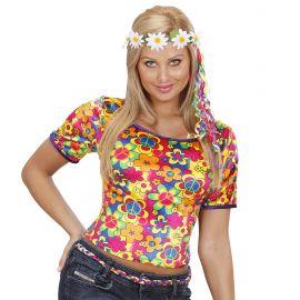 Camiseta chica hippie flores