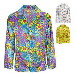 Camisa flores hippie chico m/l