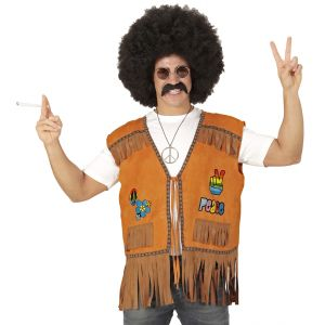Chaleco hippie chico marron m/l