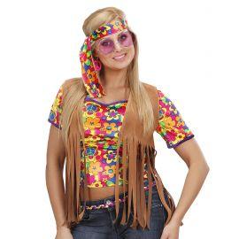 Chaleco hippie chica con cinta m