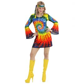 Disfraz hippie chica psicodelica