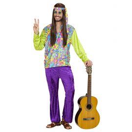 Disfraz hippie hombre morado