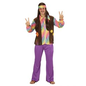 Disfraz hippie chico colores