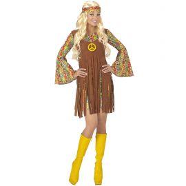 Disfraz hippie chica flecos