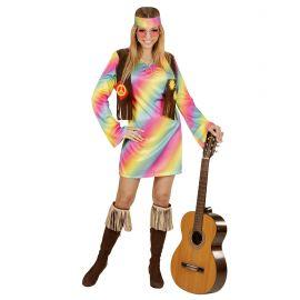 Disfraz hippie chica colores