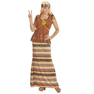 disfraz hippie mujer falda larga
