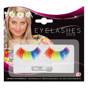 Pestañas arcoiris