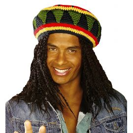 Gorro reggae con rastas