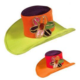 Sombrero hippie fluorescente