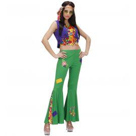 Disfraz hippie mujer woodstock verde
