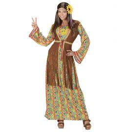 Disfraz hippie mujer vestido largo