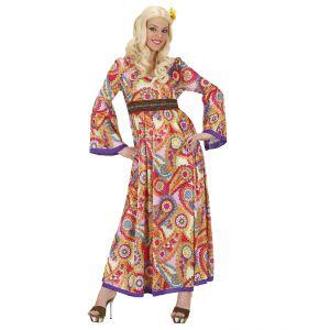 Disfraz hippie woman largo