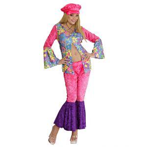 Disfraz mujer hippie terciopelo