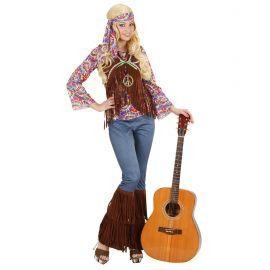 Disfraz hippie chica psico flecos