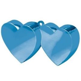 Peso doble corazon azul metal