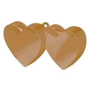 Peso doble corazon oro