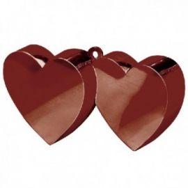 Peso doble corazon marron
