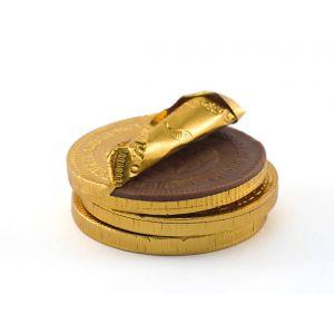 Moneda chocolate