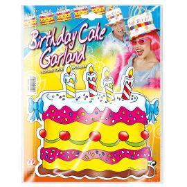 Guirnalda tarta cumpleaños 3m