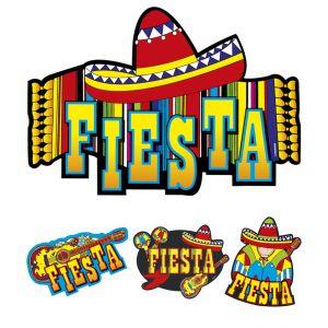Set decoraciones fiesta mexicana 55cm