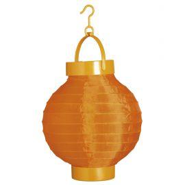 Farolillo tela naranja con luz 15cm
