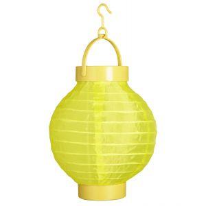 Farolillo tela amarillo con luz 15cm
