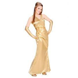 Vestido celebrity oro