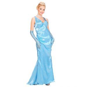 Vestido celebrity azul brillo