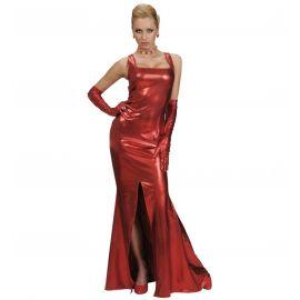 Vestido celebrity rojo gran gala