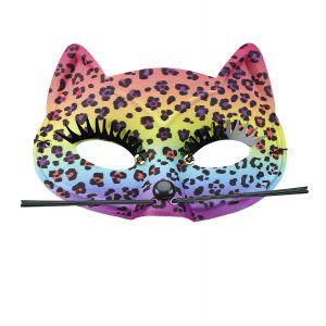 Mascara leopardo arcoiris