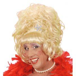 Peluca rubia drag queen