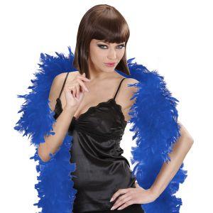 Boa plumas azul oscuro