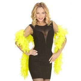 Boa plumas amarillo fluorescente