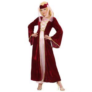 Disfraz reina medieval con velo ad