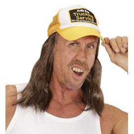 Gorra con pelo largo